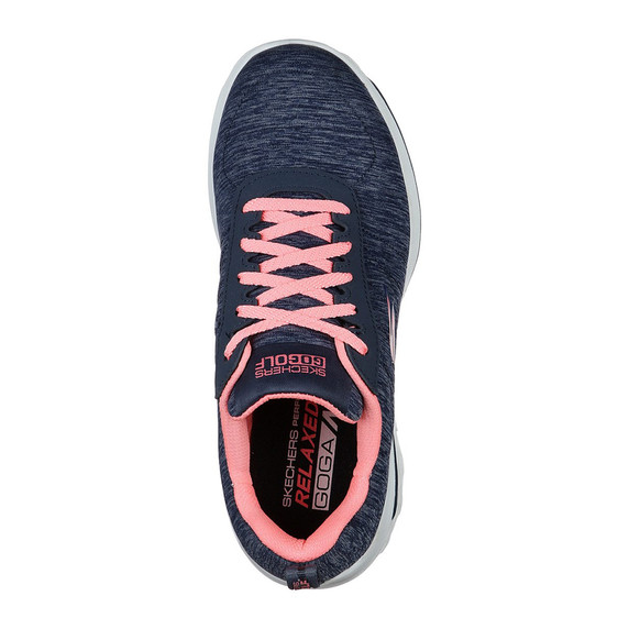 Skechers Ladies Go Golf Walk Sport Spikeless Golf Shoes - Navy and Pink