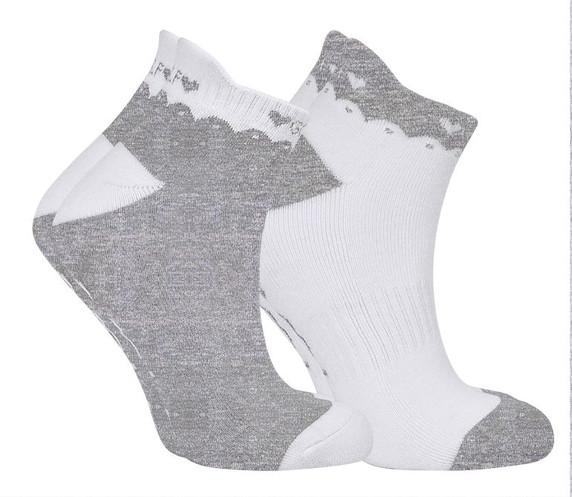 2 Pair Pack Of Grey Ladies Golf Socks