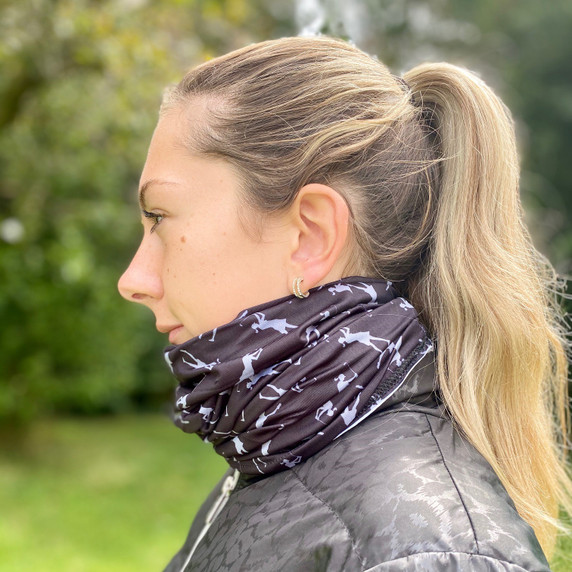 Lightweight Women's Golf Snood Lady Golfer Design - Black