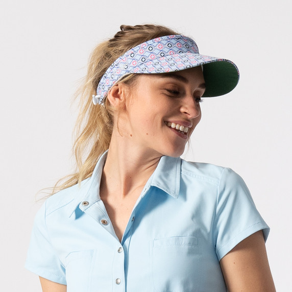 Daily Sports Ladies Sue Telephone Wire Visor - Blue Breeze