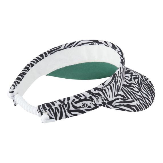 Daily Sports Ladies light grey/black Kiara Telephone Wire Visor - Zebra
