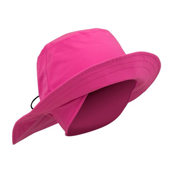 Ladies Golf Waterproof Fleece Lined Rain Hat- Pink
