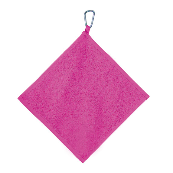 Golf Towel with Carabiner - Pink