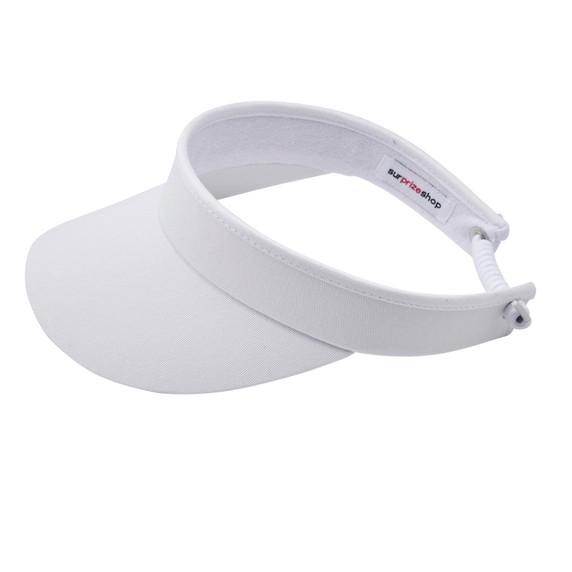 Ladies Golf Telephone Wire Visor with Ball Marker - White