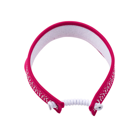 Ladies Golf Crystal Telephone wire visor with Ball Marker - Pink
