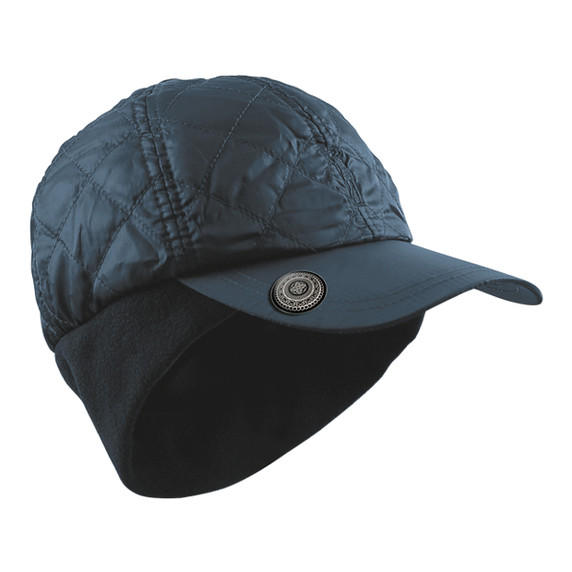Ladies Quilted Winter Golf Cap with Ball Marker-Navy