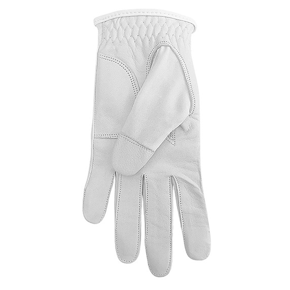 Cabretta Leather Lycra Comfort Stretch Ladies Golf Glove - Ice White
