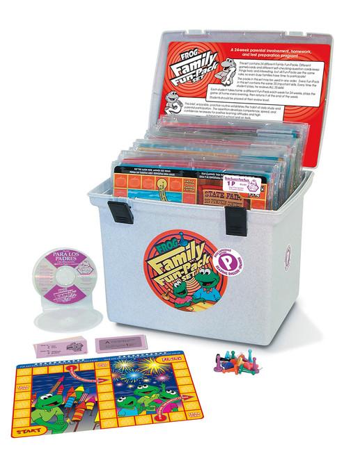 PA-833 Family Fun Pack Game Set - En Español & English, Level P Reading (plus 24 audio CDs)