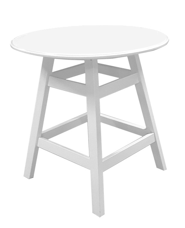 "36"" Round Plain Balcony Table Kingston Base"