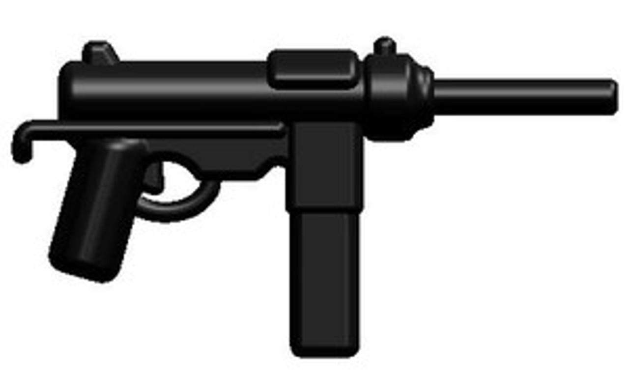 BrickArms Black Sten Machine Gun Weapons for Brick Minifigures