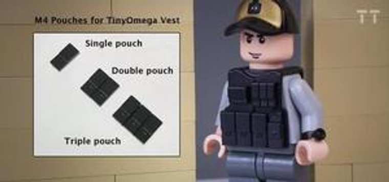 Tiny Tactical AR Mag Pouch - Tripple Pouch
