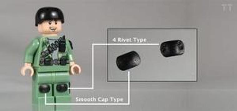Tiny Tactical Knee Pads - 4 rivet type