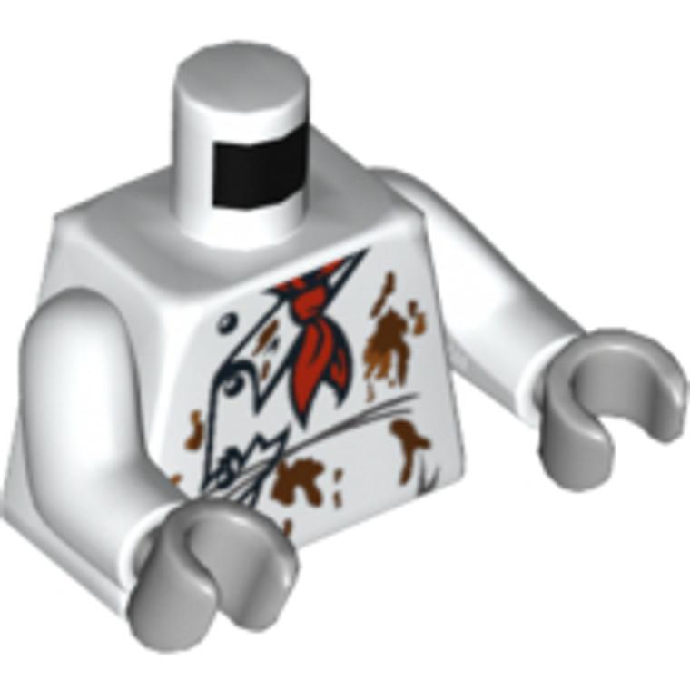 Lego Torso Zombie White
