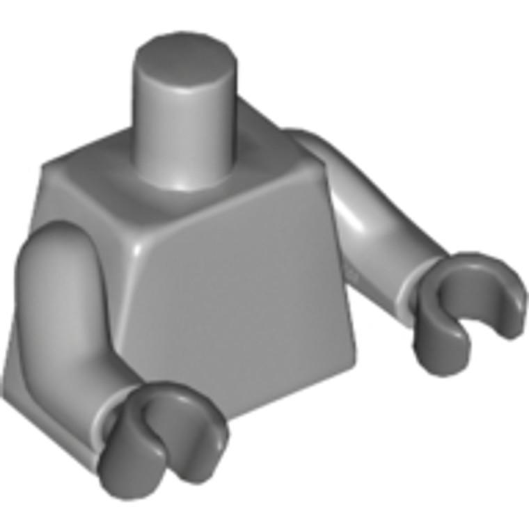 Lego Torso Plain Light Bluish Gray