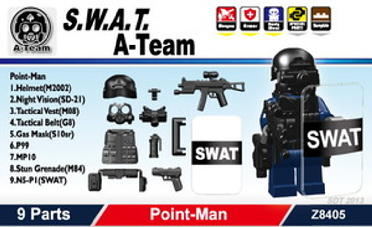 - S.W.A.T. A-Team (Point-Man) Pack
