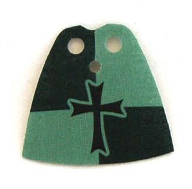 Crusader Dark Green Standard Cape with Cross