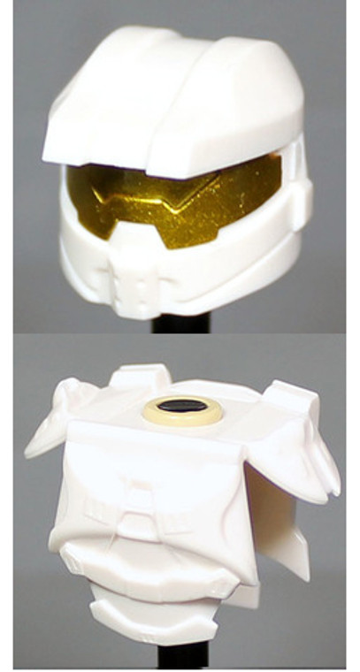 Clone Army Customs Orbital Helmet & Armor - White
