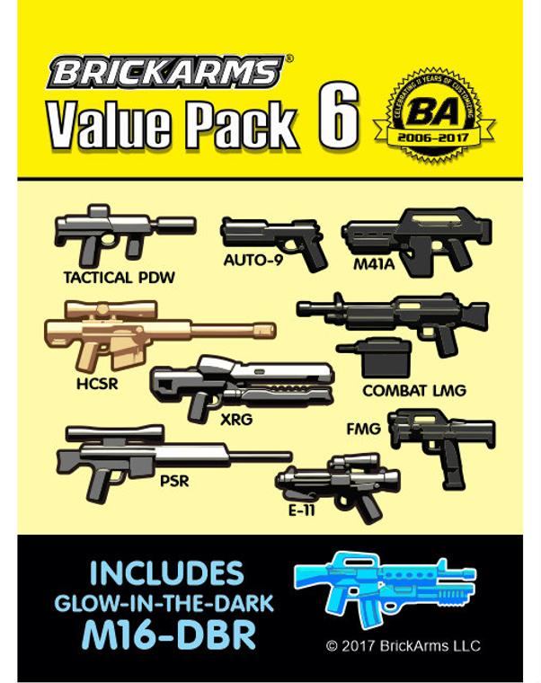 BrickArms Value Pack 6