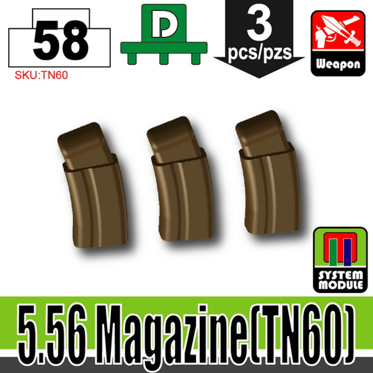 SI-DAN Deep Bronze Brown 5.56 Magazine (TN60)