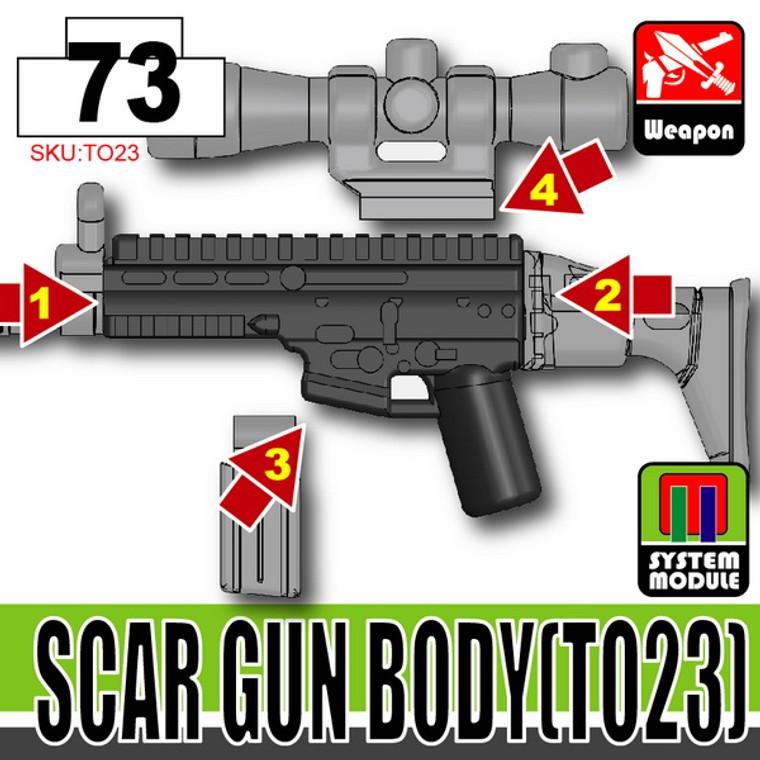 SI-DAN Black SCAR Gun Body (TO23)