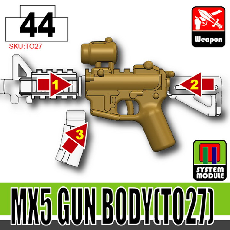 SI-DAN Dark Tan MX5 Gun Body (TO27)