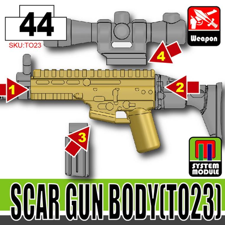 SI-DAN Dark Tan SCAR Gun Body (TO23)