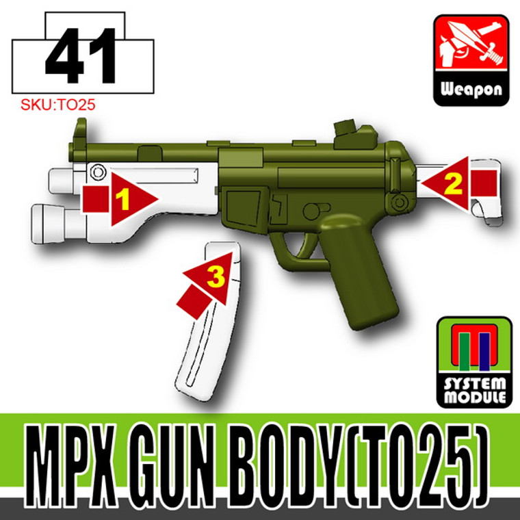 SI-DAN Tank Green MPX Gun Body (TO25)