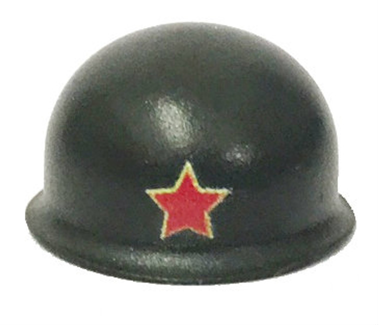 BrickArms M1 Steel Pot Helmet with Printed Red Star