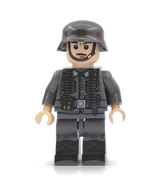 Custom Minifigure - WW2 German Gunner Soldier