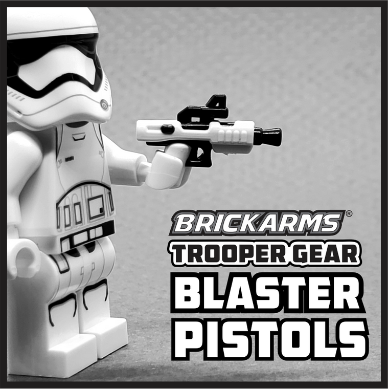 BrickArms Trooper Gear Blaster Pistols (x2)