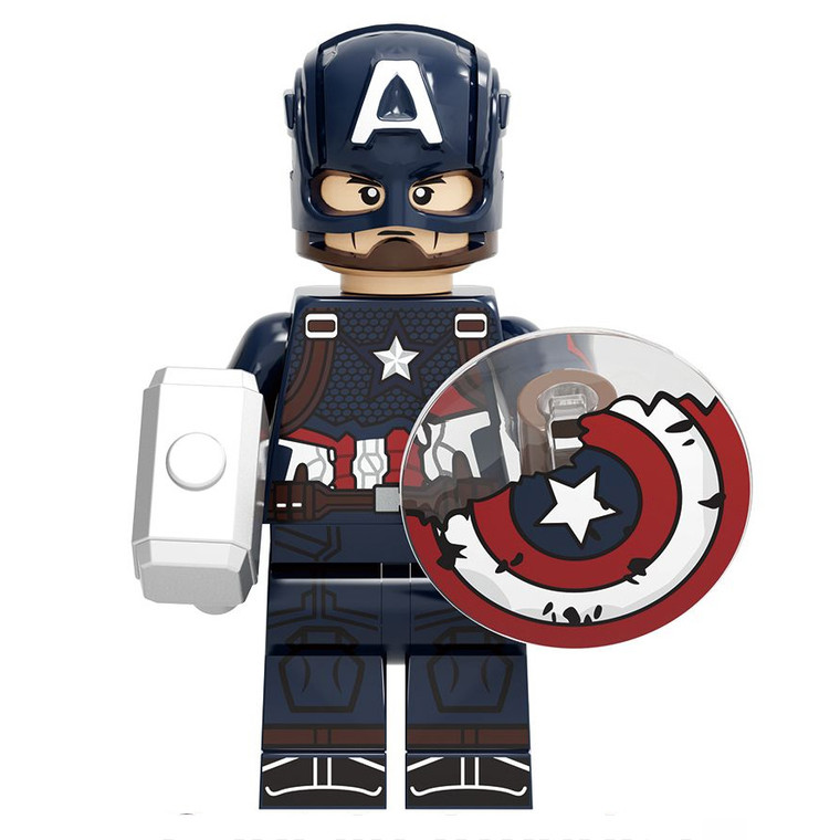 Minifigure - Marvel - Captain America w/ Damaged Shield