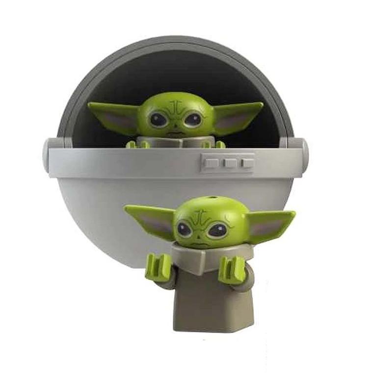 Minifigure - Star Wars - Baby Yoda with Crib