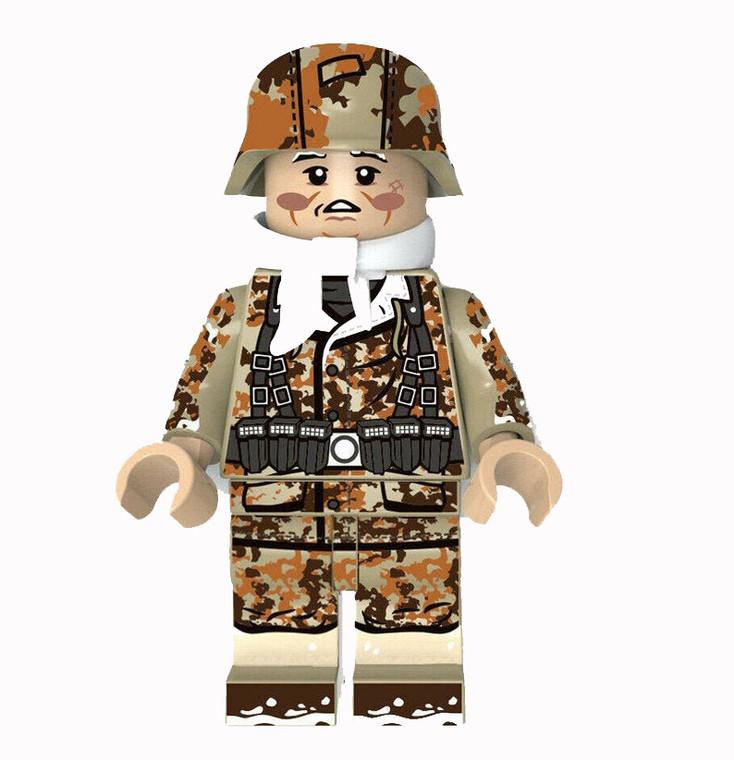 Custom Minifigure - WW2 German Winter Camo Soldier