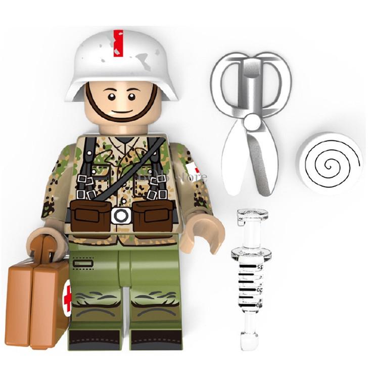 Custom Minifigure - WW2 German Medic Soldier