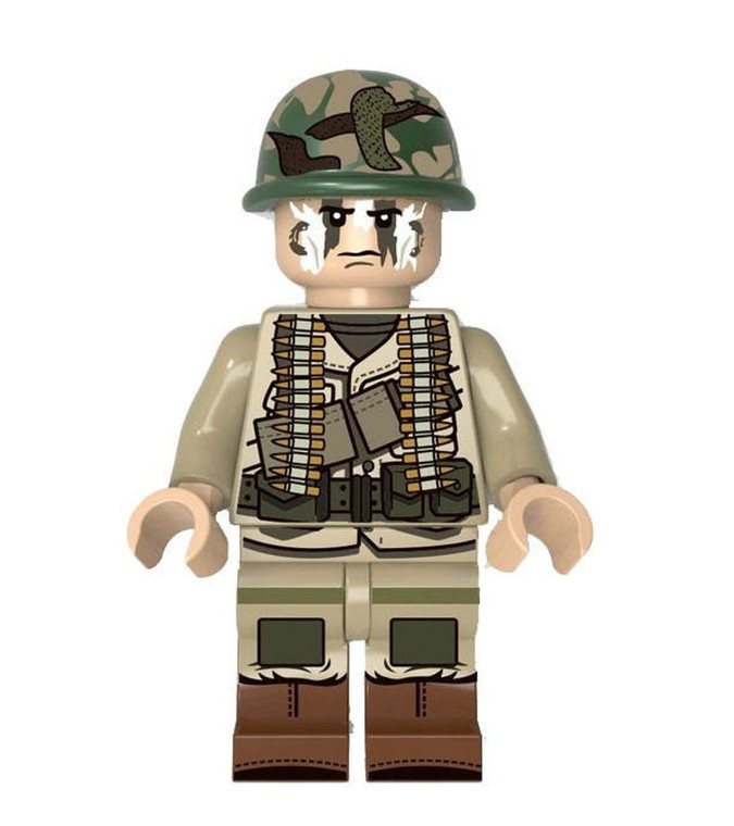 Custom Minifigure - US Army Gunner Soldier