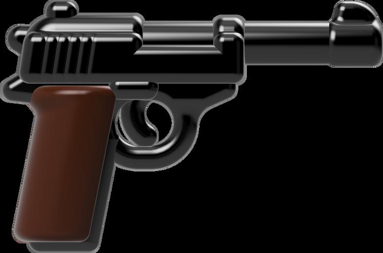 BrickArms RELOADED - P38 Pistol (Black & Dark Brown)