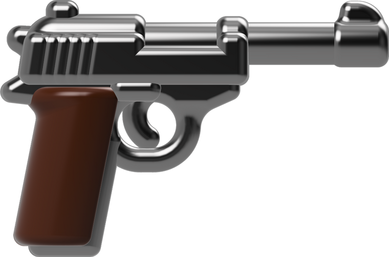 BrickArms RELOADED - P38 Pistol (Gunmetal & Dark Brown)