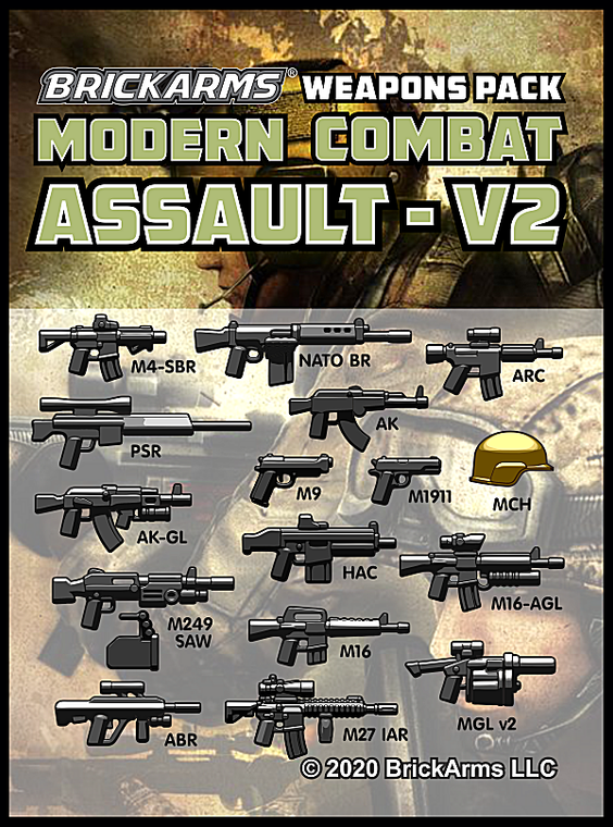 BrickArms Modern Combat - Assault Pack v2