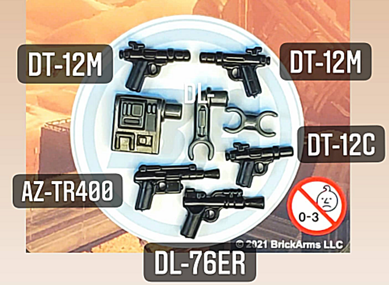 BrickArms Exo-Pack : Extendable Arm w/5 Blasters