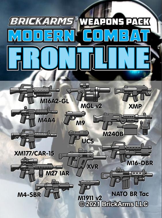 BrickArms Modern Combat - Frontline Pack