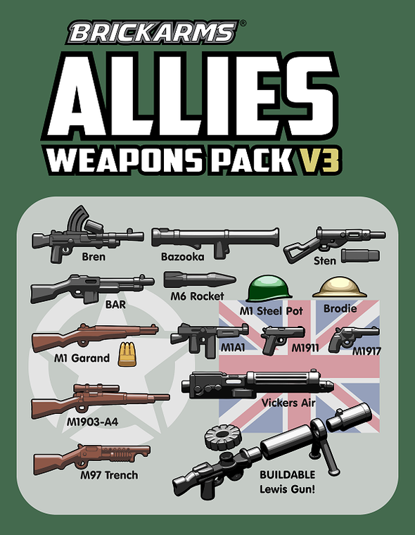BrickArms WWII Allies Pack v3