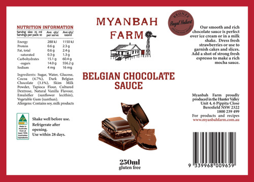 Belgian Chocolate Sauce 250ml
