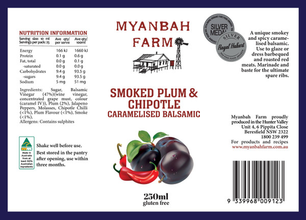 Caramelised Balsamic, Plum & Chipotle 250ml