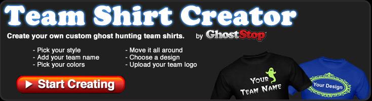 Ghost Hunting Team Shirt Printing
