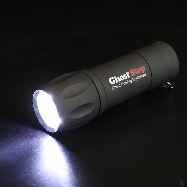 Flashlight for ghost hunting with twist flashlight experiment