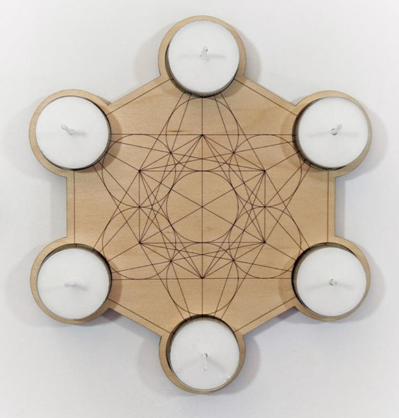 Metatron's Cube Candle holder and Crystal Grid