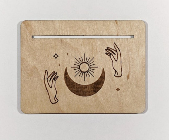 Sun and Moon Tarot Card Stand - Card of the Day