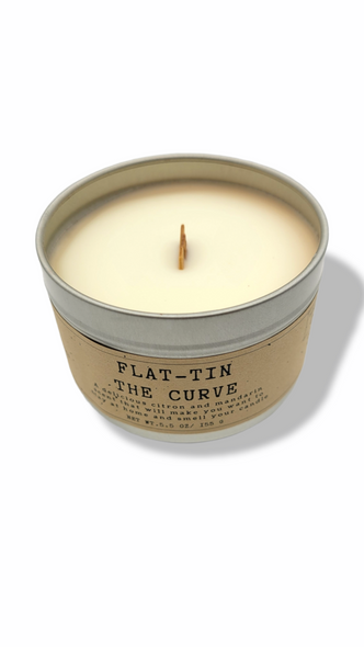 Flat-tin the curve - Citrus (Soy Wood Wick Candle)