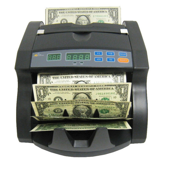 RBC-650PRO Bill Counter with 4 Hour Use Cycle - Supports New US $100 Notes