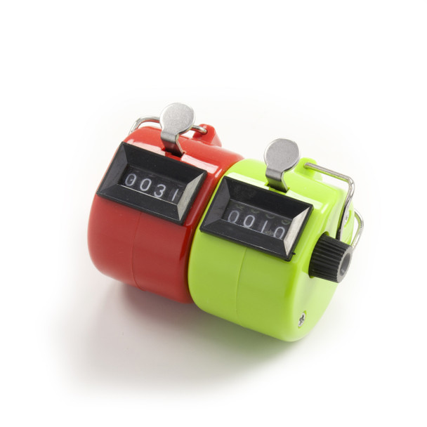 Hand Held Attendance / Pitch Counter, Red/Green